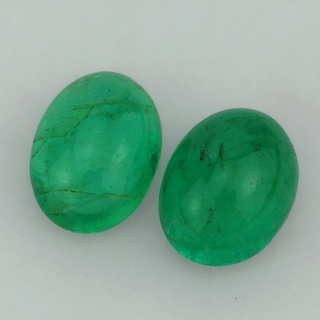 Certified Emerald - Emerald Gemstone - Emerald Oval Cab 7X6 mm